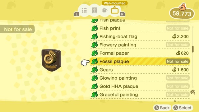 Animal Crossing: New Horizons Stamp Rally: Fossil Plaque Prize