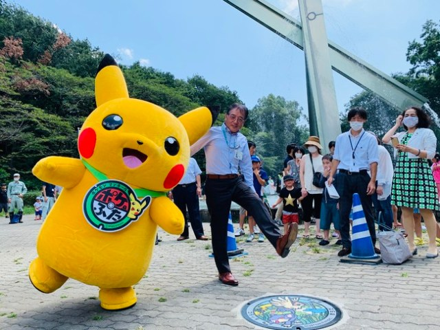 Pokémon Manhole Covers Finally Reach Kanto Region