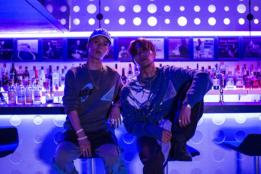 """JP The Wavy and Sik-K on the set for the """"Just a lil bit"""" music video"""