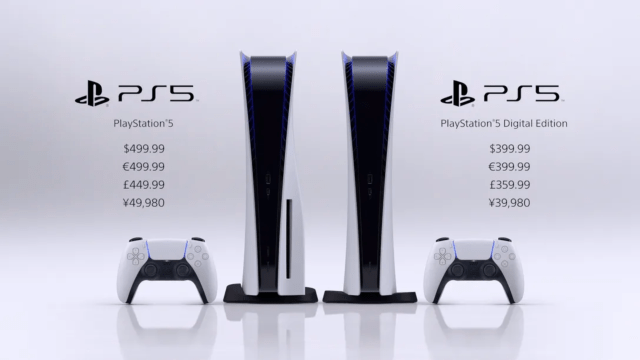PS5 Systems with pricing