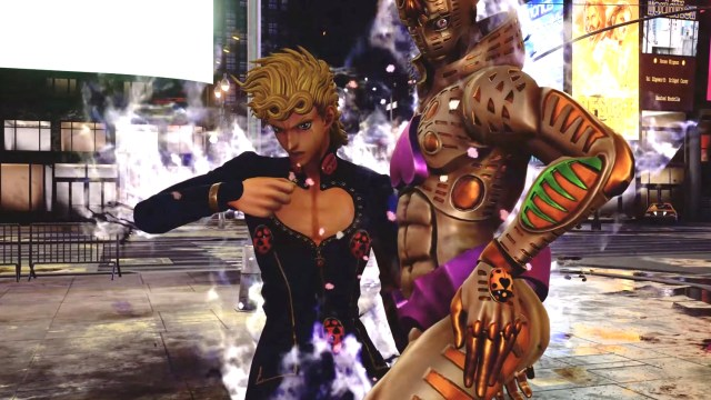 Giorno Giovanna from JoJo's Bizarre Adventure in game Jump Force