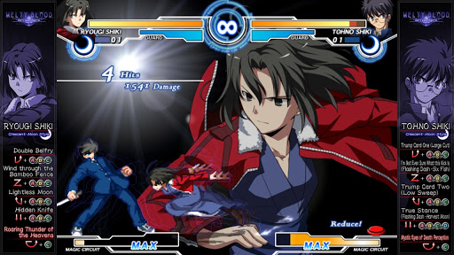 Melty Blood Gameplay