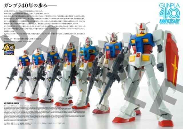 40 Years Of Gunpla History Celebrated in Commemorative Book