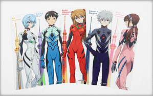 NGE items at Tokyo Skytree Evangelion Collaboration