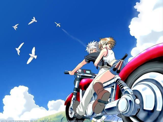 Rave Master anime illustration of Haru and Ellie