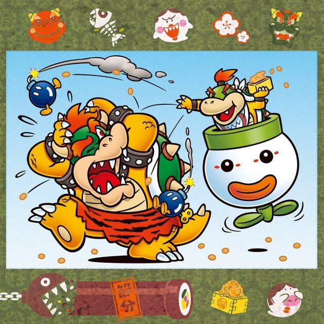 Bowser Jr. celebrates Setsubun