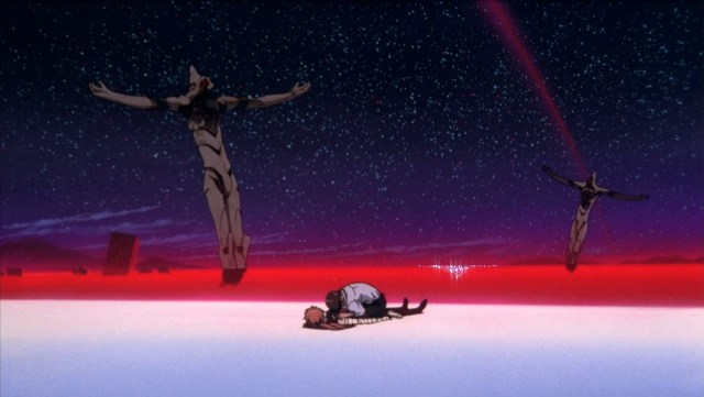 Shinji at The End of Evangelion anime