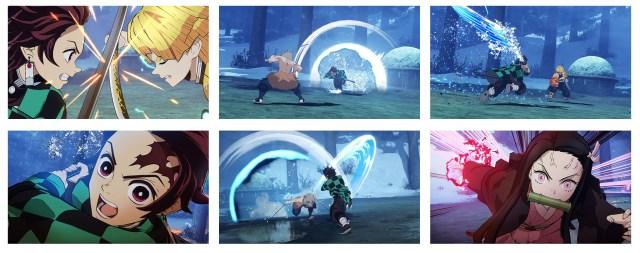 Demon Slayer Game Collage