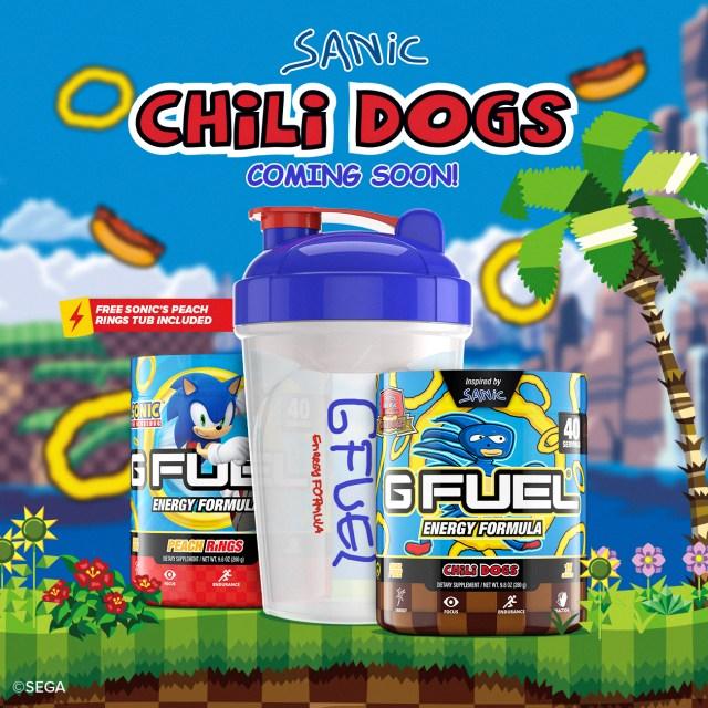 sanic the hedgehog chilli dog energy drink