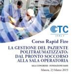 23 MAR | LA GESTIONE DEL PAZIENTE POLITRAUMATIZZATO: DAL PRONTO SOCCORSO ALLA SALA OPERATORIA