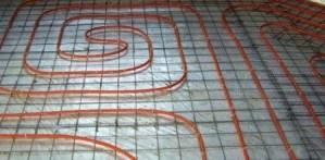 теплый пол на армирующей сетке