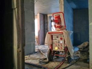 станция для механизированной штукатурки стен