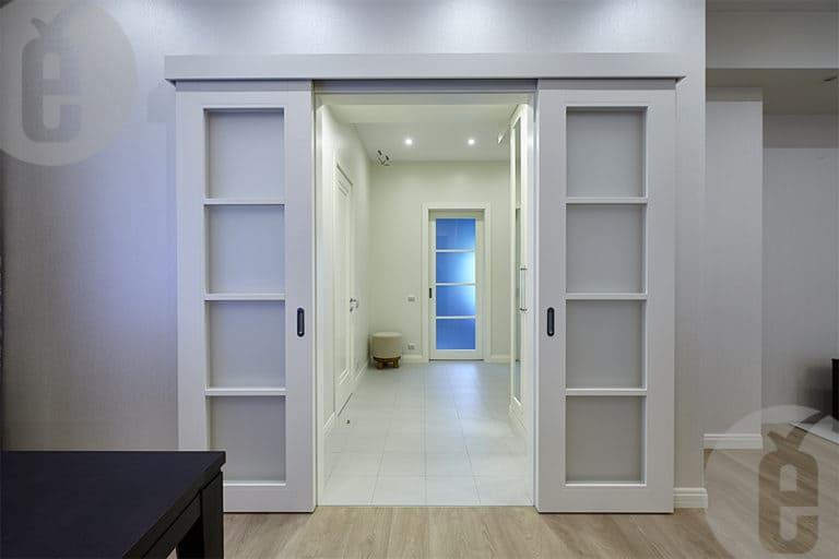 раздвижная межкомнатная дверь на заказ