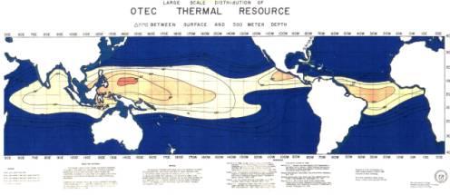 OTEC potential sites