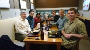 Left to right: Patrick Grandelli, Giles Brown, Sathia, Berend Jan Kleute, Martin Brown, Benjamin Martin