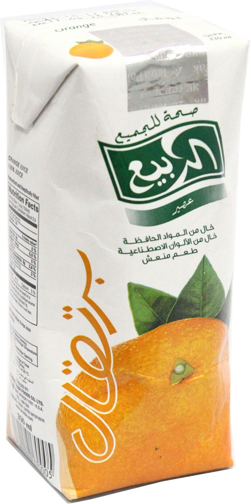 عصير الربيع برتقال 330مل