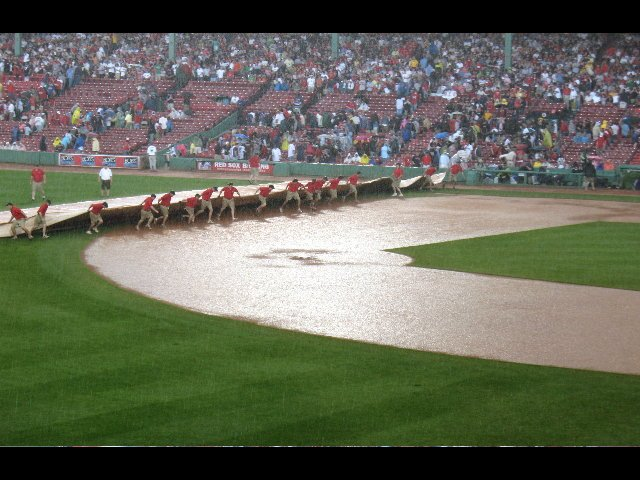 The grounds crew to the rescue!