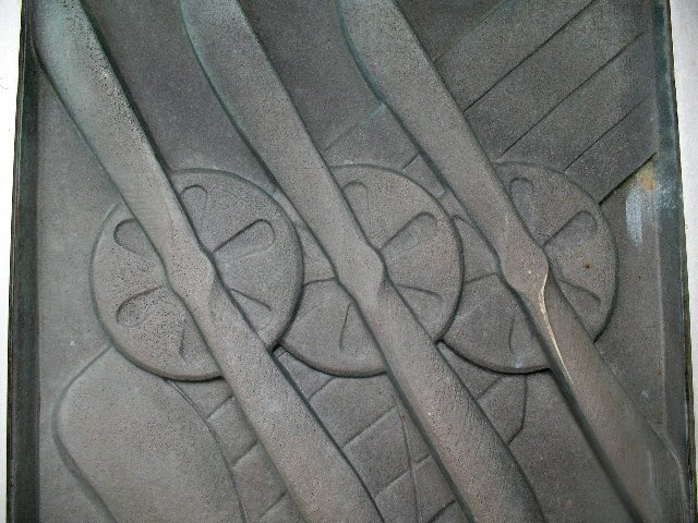 The art deco detail of the Wright Brothers Memorial