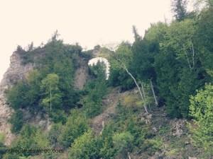 Biking Mackinac Island - Viewing Arch Rock from the Road
