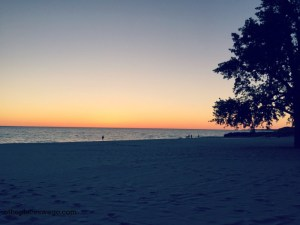 Road to Ludington Michigan - Ludington Sunset Stearns Beach