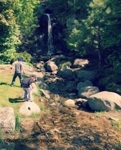 Road to Ludington Michigan - Petoskey Sunset Park Waterfall
