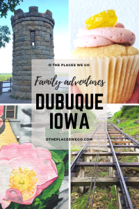 Family Fun Weekend Adventures in Dubuque, Iowa's oldest city including street art, fantastic viewing opportunities, museum, food, waterpark resort and more.