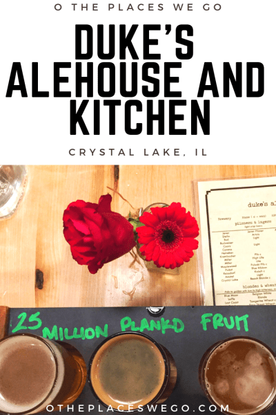 Date night at Duke's Alehouse and Kitchen in Crystal Lake