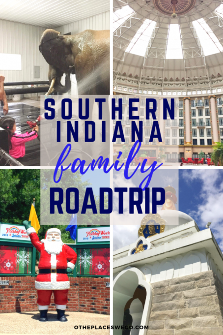 A fun family roadtrip through Southern Indiana with stops at Santa Claus, French Lick, and Bloomington.