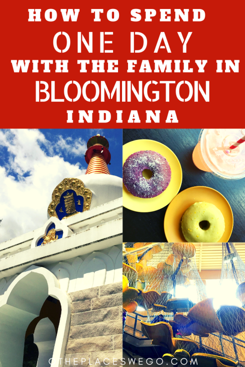 How to Spend One Day with the Family in Bloomington Indiana including things to do, places to eat, and where to stay.