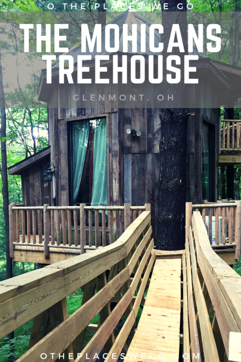 Luxurious family glamping at The Mohicans Treehouse in Glenmont, Ohio. Our review of El Castillo, a magical 2-story treehouse, with 2 beds, a small kitchenette, an indoor and outdoor shower, and one on one time with nature.