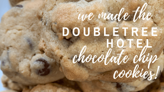 Miss those DoubleTree Hotel chocolate chip cookies? We have the official recipe and we tried it! Find out if it came out just like the ones at the hotel.