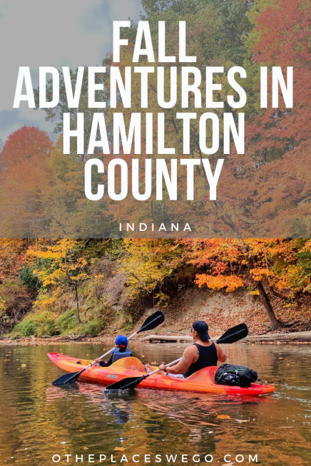 A fall family adventure in Hamilton County, Indiana with plenty of leaf peeping on land and water, fun festivals, and more.