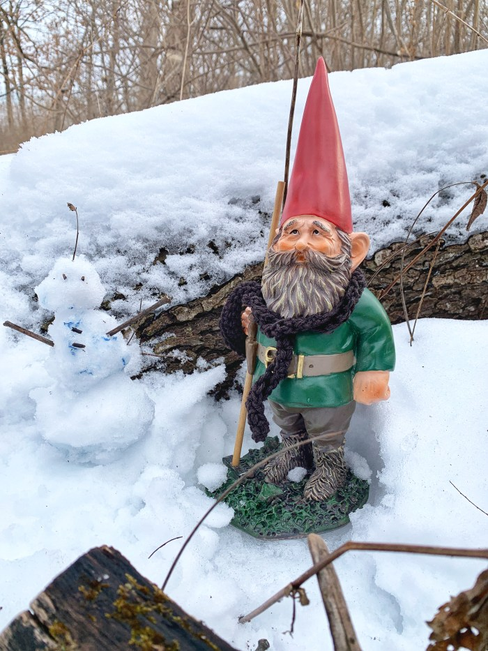 Get out and enjoy the great outdoors during winter at Harrison Benwell in Wonder Lake. Hike and search for gnomes!