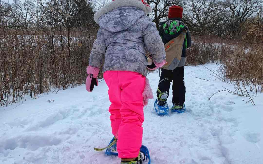 Winter at Crabtree Nature Center: Snowshoeing and Hiking Fun