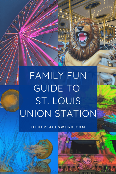 A family fun guide to the historic St. Louis Union Station with aquarium, The Wheel, mini golf, carousel, ropes course, and more.
