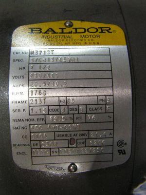 7 12 HP 3 Phase Baldor Motor?