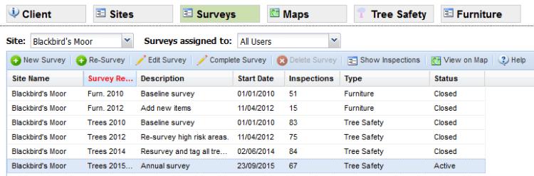 Survey grid