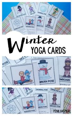 Kids yoga! The best way to move is with a winter themed yoga! Winter yoga is great for indoor recess, winter brain breaks, or therapy! #winteryoga #kidsyoga #brainbreaks #winteractivities