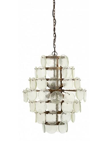 suspension glasso o53 3 cm en verre au design vintage par nordal