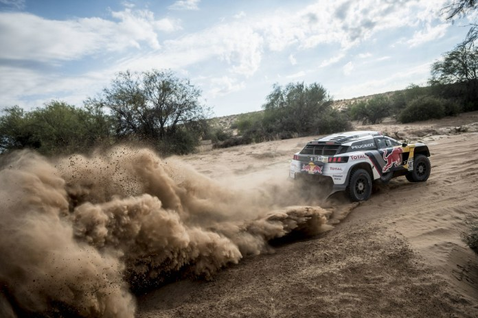 Cyril Despres (FRA) of Team Peugeot Total races during stage 11 of Rally Dakar 2017 from San Juan to Rio Cuarto, Argentina on January 13, 2017 // Marcelo Maragni/Red Bull Content Pool // P-20170113-00534 // Usage for editorial use only // Please go to www.redbullcontentpool.com for further information. //