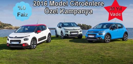 2016 Model Citroenlere Özel Kampanya