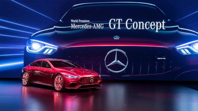Mercedes-Benz auf dem Internationalen Automobil-Salon Genf 2017: Weltpremiere des Mercedes-AMG GT Concept. ; Mercedes-Benz at the 2017 Geneva International Motor Show: World Premiere of the Mercedes-AMG GT Concept.;