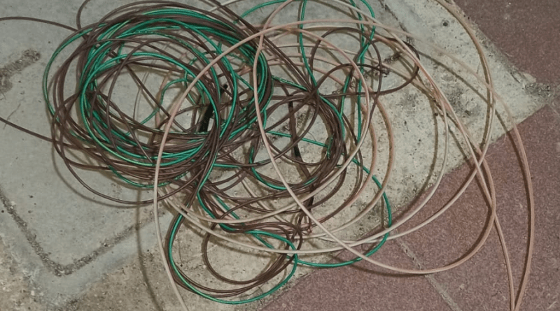 A prisión hombre encontrado «in fraganti» robando cable