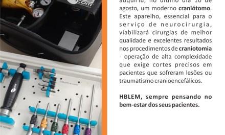Hospital de Base adquire moderno equipamento utilizado em serviços de neurocirurgia