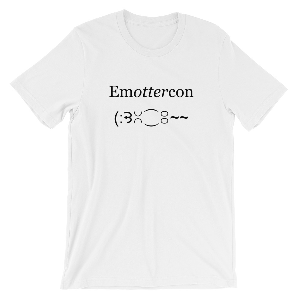 Emottercon2-Unisex T-Shirt_mockup_Front_Wrinkled_White