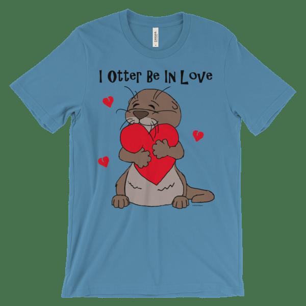 I Otter Be In Love Ocean Blue T-shirt
