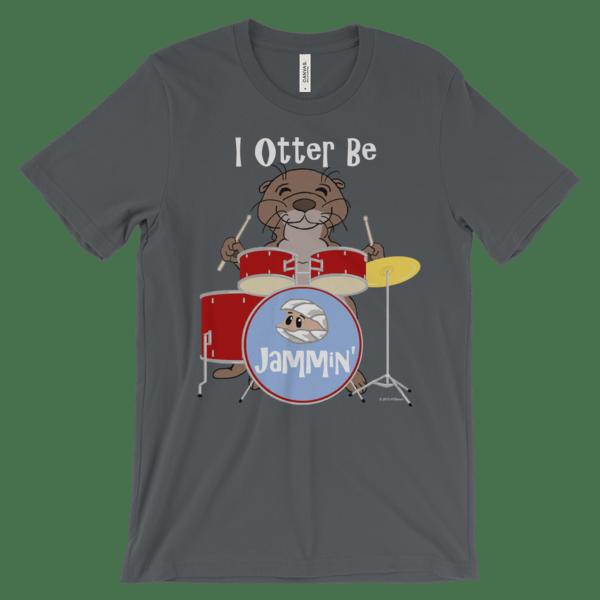 I Otter Be Jammin' Asphalt T-shirt