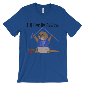 I Otter Be Radical Royal T-shirt