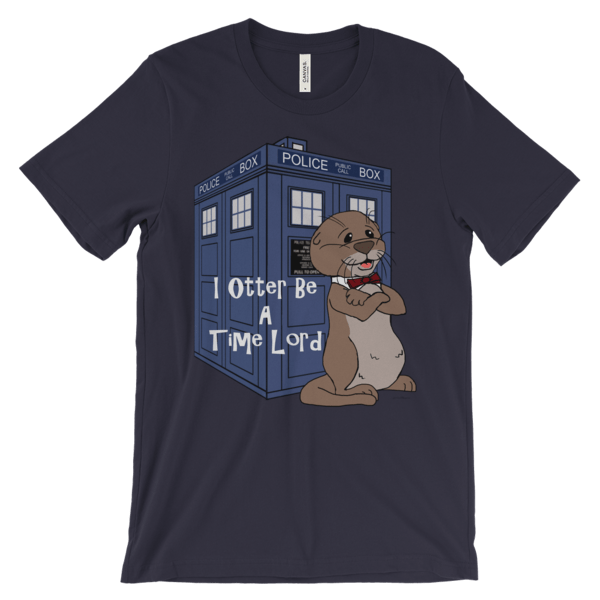 I Otter Be A Time Lord Navy T-shirt