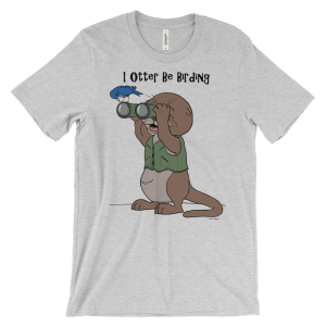 I Otter Be Birding Heather T-shirt